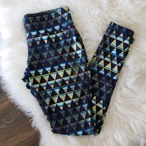 B2G1 Mossimo Blue/Green Triangle Shapes Leggings